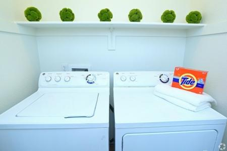 In-apartment unit laundry at Elevation Apartments in Flagstaff, AZ