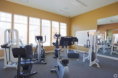 Fitness room at Mirabella Heights in Albuquerque, NM