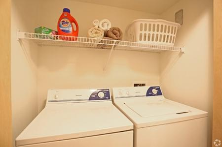 In-apartment laundry at Mirabella Heights in Albuquerque, NM