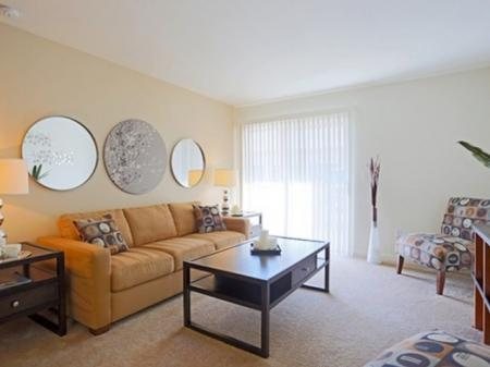 Living room at Mirabella Heights in Albuquerque, NM