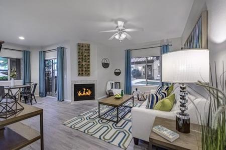 Living room at Springs At Continental Ranch Apartments In Tucson, AZ