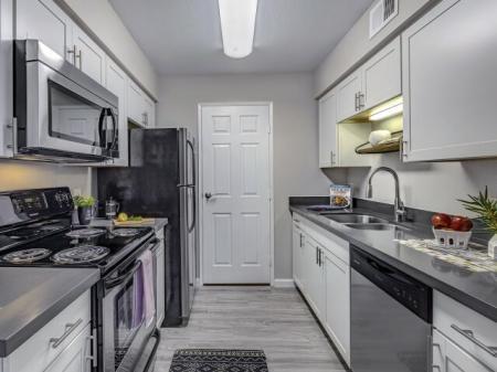 Kitchen at La Entrada Apartments in Tucson, AZ