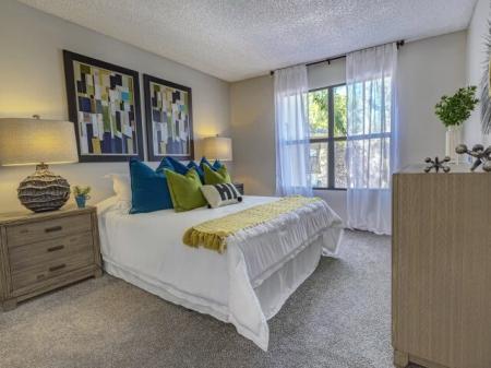 Bedroom at La Entrada Apartments in Tucson, AZ