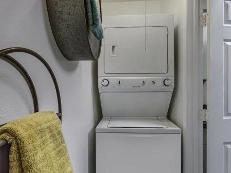 In-unit laundry at La Entrada Apartments in Tucson, AZ
