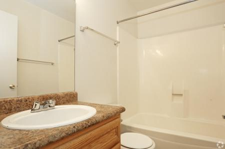Bathroom at Pinecliff Village Apartments in Flagstaff, AZ