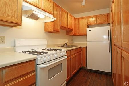 Kitchen at Pinecliff Village Apartments in Flagstaff, AZ