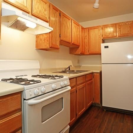 Kitchen at Pinecliff Village Apartments in Flagstaff, AZ