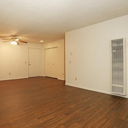 Living room at Pinecliff Village Apartments in Flagstaff, AZ