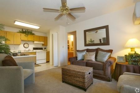 Living room at Shorebird Apartments in Mesa, AZ