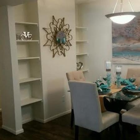 Dining area at Saguaro Villas Apartments in Tucson, AZ