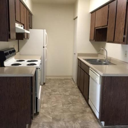 Kitchen at Saguaro Villas Apartments in Tucson, AZ