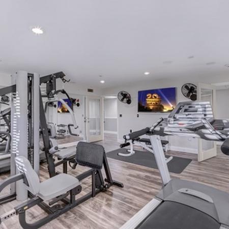 Fitness room at Prescott Lakes Apartments in Prescott, AZ