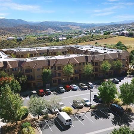 Arial view of Prescott Lakes Apartments in Prescott, AZ