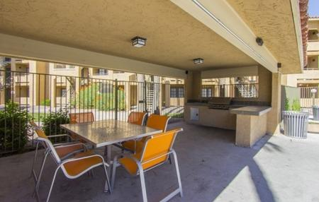 BBQ grill patio at Zona Rio Apartments in Tucson, AZ