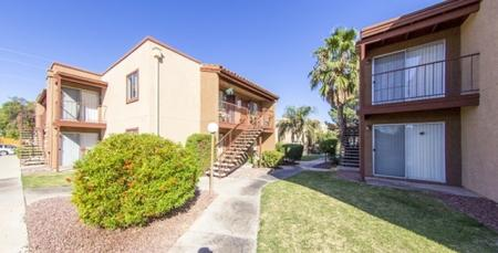 Exterior and landscaping at Canyon Heights in Tucson, AZ
