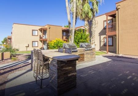 BBQ grills at Canyon Heights in Tucson, AZ