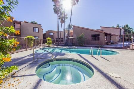 Pool and spa at Canyon Heights in Tucson, AZ