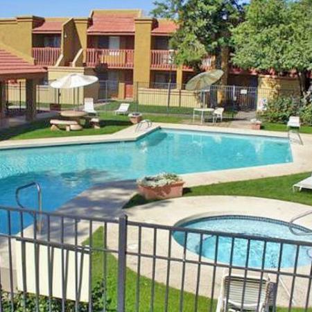 Poolpatio at Acacia Pointe Apartments in Glendale, AZ
