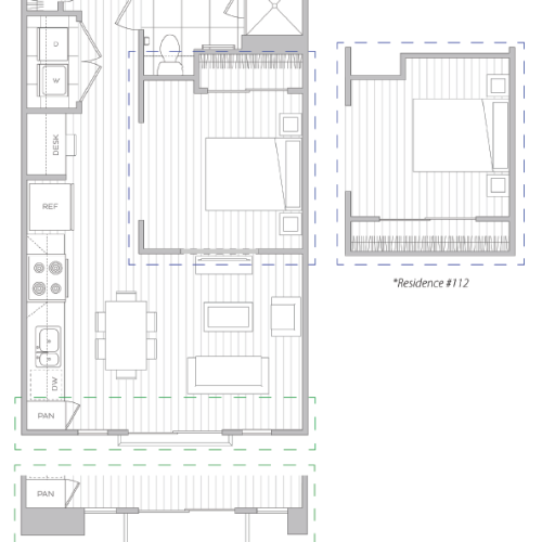 Floor Plan 1 | Luxury Apartment Baltimore | Hanover Cross Street