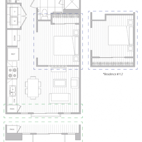 Floor Plan 1 | Luxury Apartment Baltimore | Hanover Cross Street
