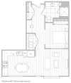 Floor Plan 2 | Baltimore Luxury Apartments | Hanover Cross Street