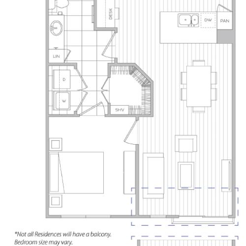 Floor Plan 3 | Apartments In Baltimore | Hanover Cross Street