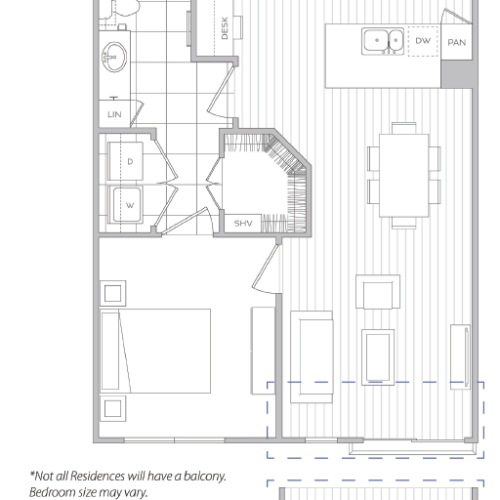 Floor Plan 3 | Apartments In Baltimore | Hanover Cross Street