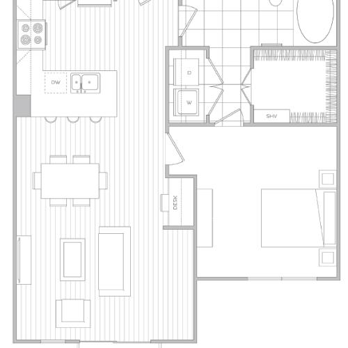 Floor Plan 8 | Luxury Apartments Baltimore | Hanover Cross Street