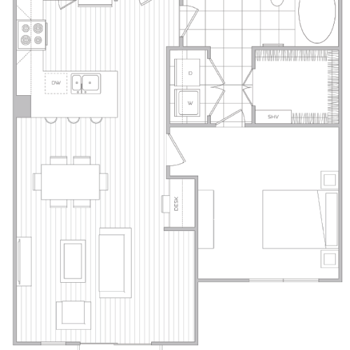 Floor Plan 8 | Luxury Apartments Baltimore | Hanover Cross Street
