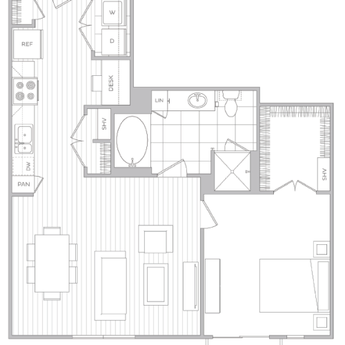 Floor Plan 9 | Apartments Baltimore | Hanover Cross Street
