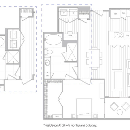 Floor Plan 10 | One Bedroom Apartments In Baltimore Md | Hanover Cross Street
