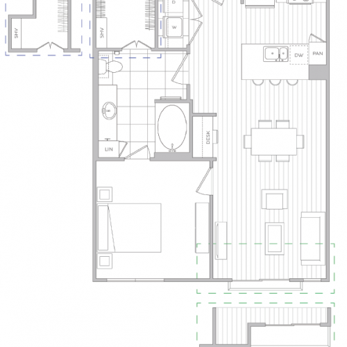 Floor Plan 5 | Baltimore Apartments | Hanover Cross Street