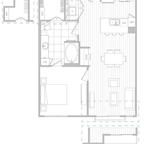 Floor Plan 5 | Baltimore Apartments | Hanover Cross Street
