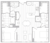 Floor Plan 12 | Baltimore Luxury Apartments | Hanover Cross Street