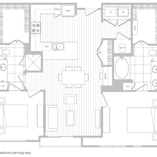 Floor Plan 14 | Luxury Apartments In Baltimore | Hanover Cross Street