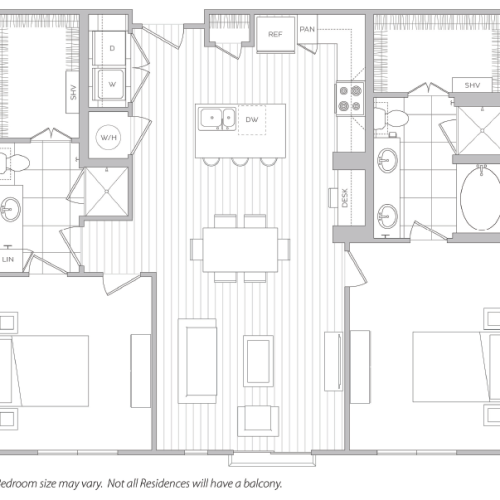 Floor Plan 18 | Luxury Apartments Baltimore | Hanover Cross Street