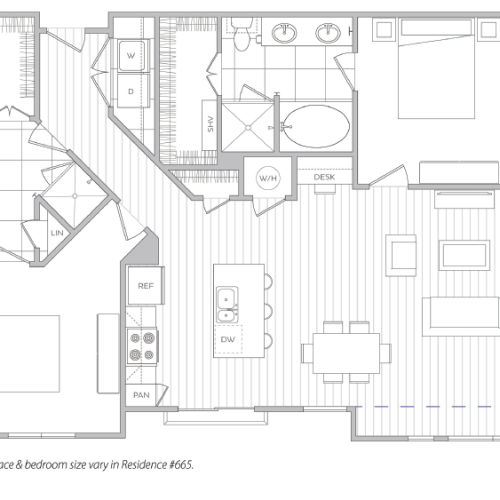 Floor Plan 20 | One Bedroom Apartments In Baltimore Md | Hanover Cross Street