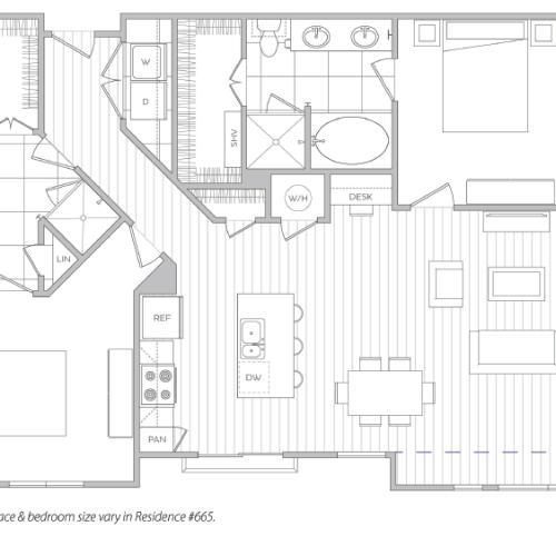 Floor Plan 20 | One Bedroom Apartments In Baltimore Md | Hanover Cross Street