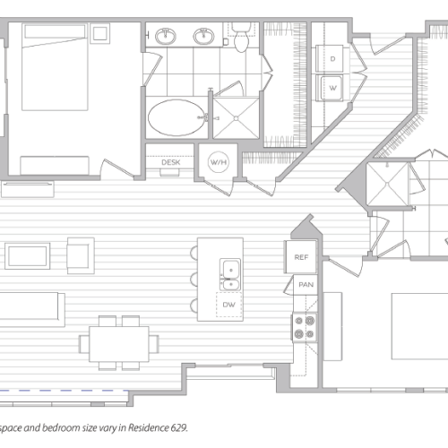 Floor Plan 21 | Luxury Apartment Baltimore | Hanover Cross Street