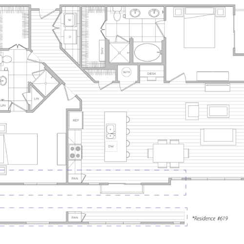 Floor Plan 22 | Baltimore Luxury Apartments | Hanover Cross Street