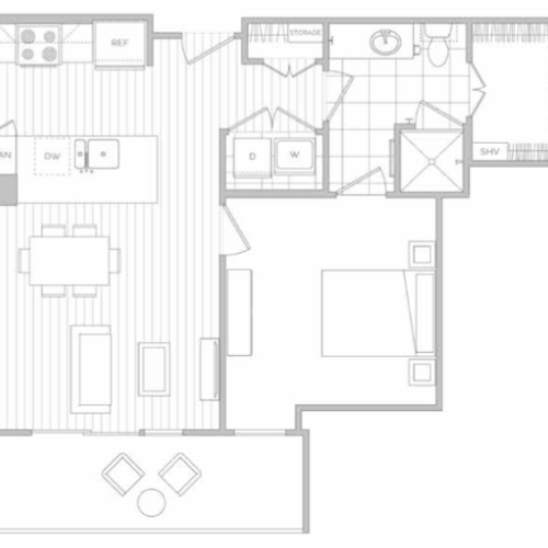 Floor Plan 2 | Dallas Texas Luxury Apartments | Hanover Midtown Park