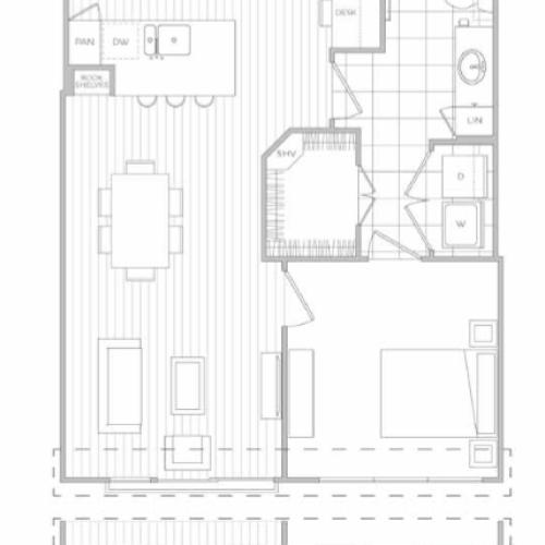 Floor Plan 3 | Dallas Apartments | Hanover Midtown Park