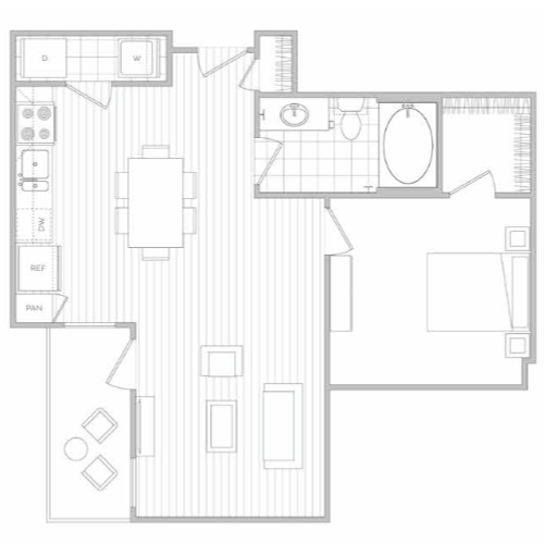 Floor Plan 4 | Dallas Texas Luxury Apartments | Hanover Midtown Park