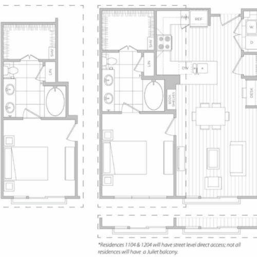 Floor Plan 7 | Luxury Apartments Dallas Texas | Hanover Midtown Park