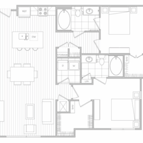 Floor Plan 9 | Luxury Apartments In Dallas Tx | Hanover Midtown Park