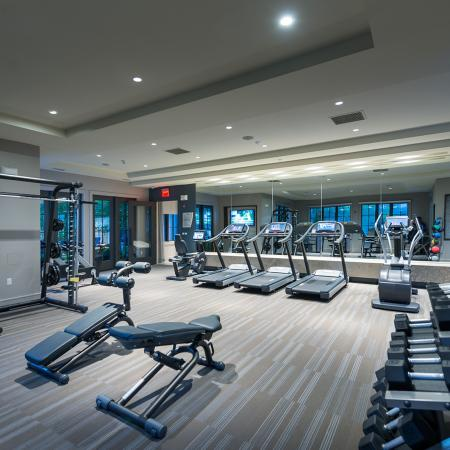 24-Hr Fitness center at Hanover Foxborough