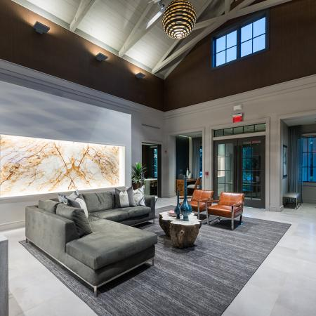 Second view of Clubhouse lobby at Hanover Foxborough