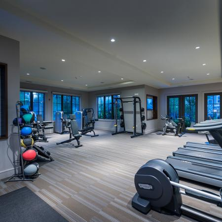 Second view of 24-hr fitness center at Hanover Foxborough