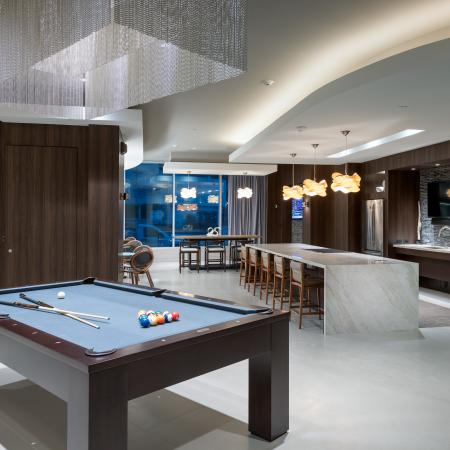billiards in resident lounge