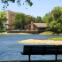 Bench Overlooking a Lake | Lake+House Apartments | Wheeling IL Apartments